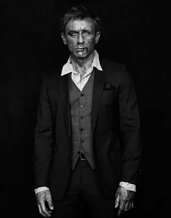 Daniel Craig – fashion shoot for Mondino