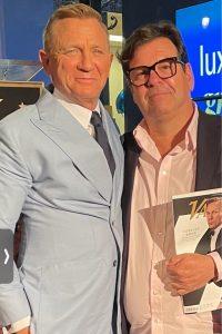 Daniel-Craig-with-Donald-Mowat at Hollywood Walk of Fame